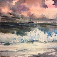 Море, Акварель Winsor & Newton Artists