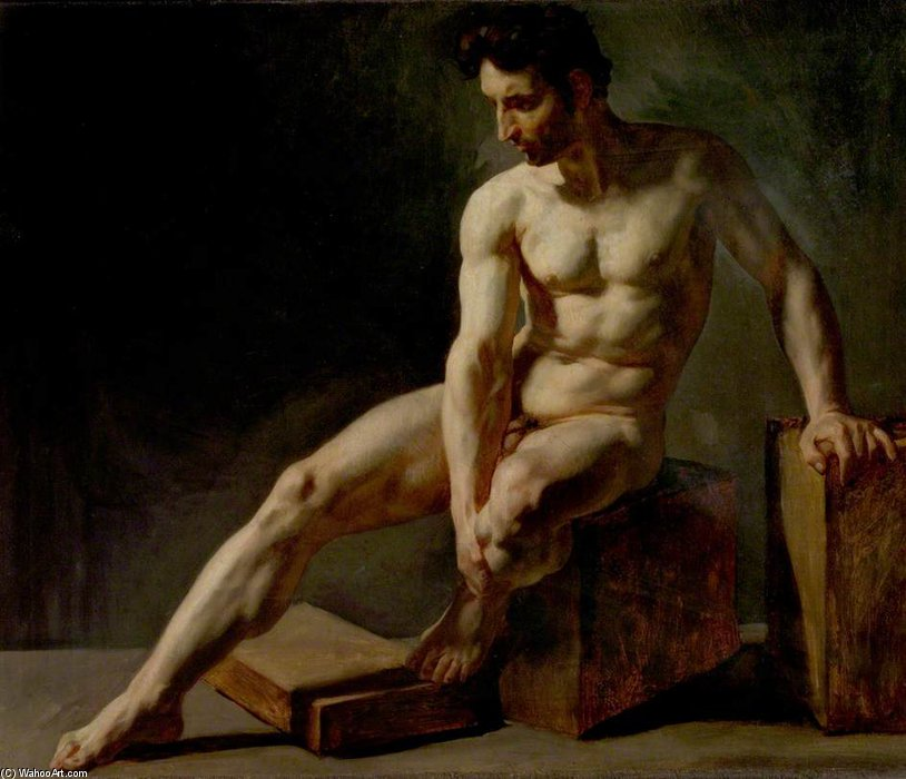 Jean+Baptiste+Edouard+Detaille-Seated+Male+Nude.jpg